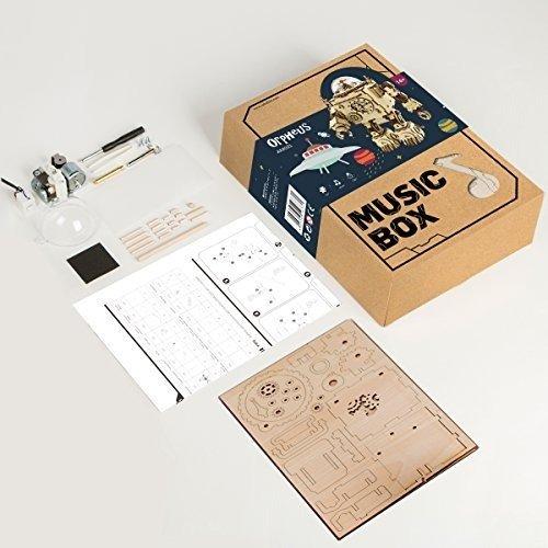 3D DIY音乐盒,胸口可亮灯