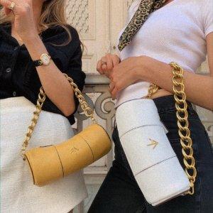 优享7折 收封面博主款圆筒包折扣升级:Manu Atelier 美包节日促 Jackie、爆款Roxy、Pita等