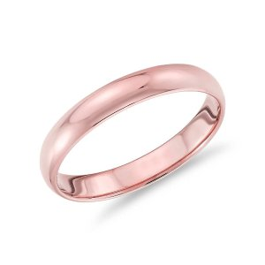 Blue NileClassic Wedding Ring in 14k Rose Gold (3mm) | Blue Nile