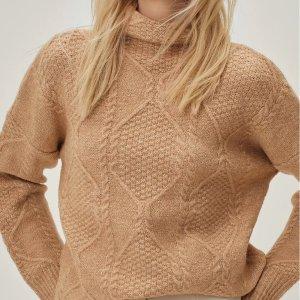 Nasty Gal超级温柔棕色系,低至5折~高领毛衣