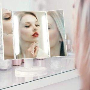 闪购$19.99(原价$27.99)HAIRBY 10倍放大LED三面化妆镜