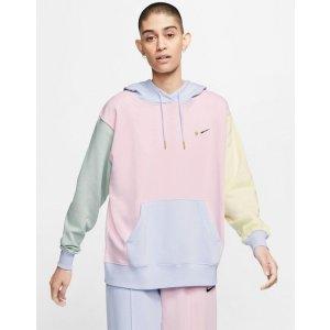 Nike爆款!抢!奶油拼色卫衣