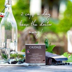 3瓶仅€38.9+满额送礼包Caudalie 葡萄籽精华胶囊 容颜不老的小心机