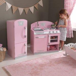 $117KidKraft Pink Retro Kitchen and Refrigerator