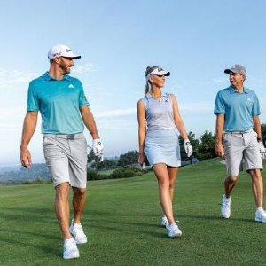 低至5折 高尔夫鞋$60起adidas Golf系列特卖 透气舒爽 明星球员选择 宽沿帽$17