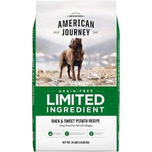 American Journey买2包立减$45Limited Ingredient 无谷鸭肉红薯狗粮 24lb