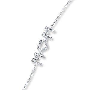 Mom Bracelet Crystals Sterling Silver
