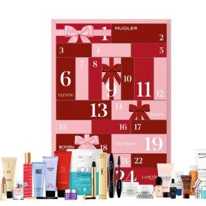 €63收价值超€350商品+送7件套!破防了!Lancome、YSL大牌圣诞日历史低!送美妆护理7件套!
