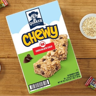 低至4.7折Quaker Chewy 早餐燕麦棒 多种口味