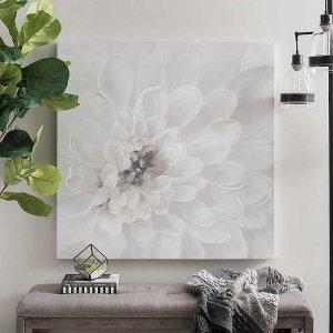 White Bloom Canvas Art Print