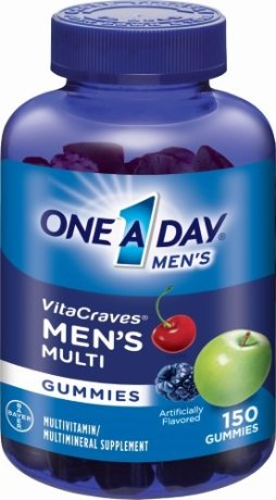 One A Day VitaCraves Men's Multivitamin Gummies, Cherry Berry and Apple, 150 Ct by One-A-Day