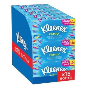 6.4折,平均每盒仅€1.4Kleenex 超值家庭装纸抽 15盒仅€20.93 赶紧囤起来