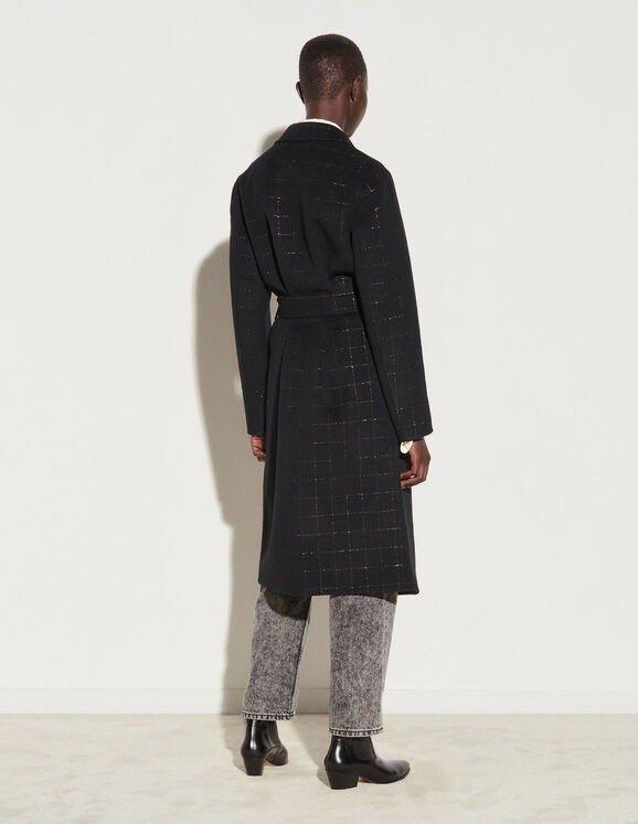 羊毛系带大衣
