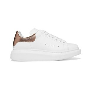 Coming Soon: 15% OffAlexander McQueen Suede-trimmed leather exaggerated-sole sneakers @NET-A-PORTER UK