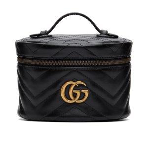 $1015(官网$1070)收封面款Gucci GG Marmont 化妆手提包 超时尚人气单品 收樱花粉