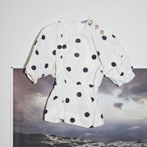 5折起 €122收佟丽娅同款Ganni 限时大促 收超火泡泡袖连衣裙、上衣等 波点衬衫低至€75