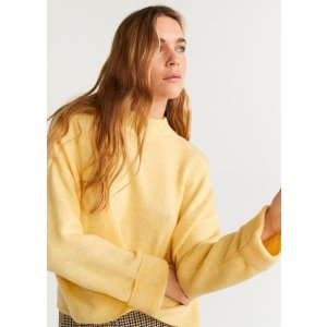 MangoRolled-up sleeves sweater - Women | OUTLET USA
