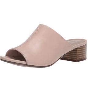 $45.94起(原价$105)夏日必败:Clarks Elisa 女士粗跟穆勒鞋 玫瑰豆沙粉 US9码