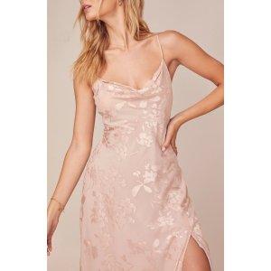 ASTR THE LABEL封面同款粉色吊带连衣裙