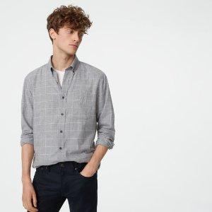 Club Monaco灰色格纹衬衫
