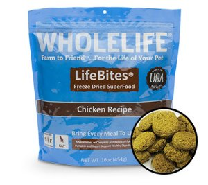 Whole Life LifeBites Chicken Recipe Grain-Free Freeze-Dried Cat Food 16-oz