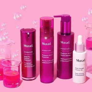 $42起+送Fresh中样上新:Murad 益生元系列护肤产品热卖 天然益菌护肤新概念