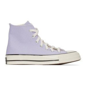 Converse香芋色高帮帆布鞋