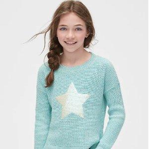 全场5折+额外7折 低至$4.2折扣升级:Gap官网儿童服饰 节日服饰折上折