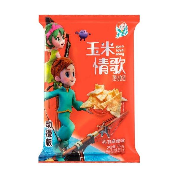 小王子 玉米情歌 网红薄薯片 抖音麻辣味 75g