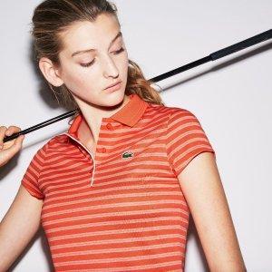LacosteWomen's SPORT Striped Technical Jersey Golf Polo