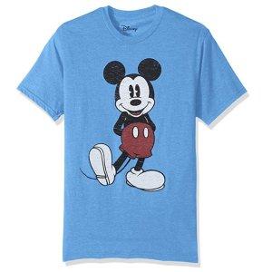 $12.3起 女生小码可穿Disney 米老鼠男款短袖热卖 情侣游乐场必备