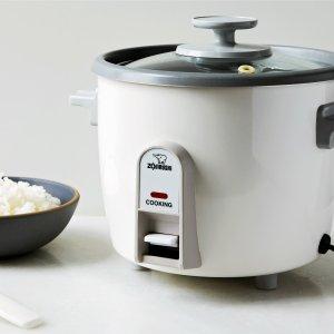$57.19(原价$65.33)Zojirushi 象印 NHS-06 3杯量电饭煲 一键煮出蓬松柔软米饭