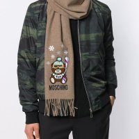 Moschino 小熊围巾