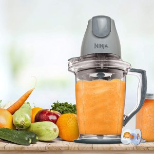 $39.98(原价$49.99)Ninja QB900B 搅拌机 按压启动 果泥、沙冰、宝宝辅食制作