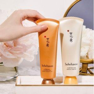 最高立减$75独家:Sulwhasoo 护肤彩妆热卖 收雨润面膜 宫中蜜皂