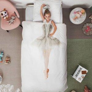 6折 $71.4起Snurk 创意美人鱼/芭蕾/公主/宇航员/宇航员纯棉被套枕套 Twin/Full/Queen