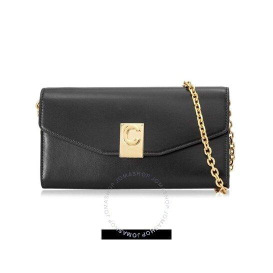 Ladies Black Leather 链条包