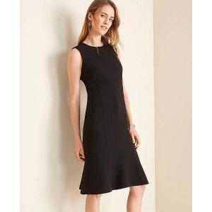 Ann TaylorThe Flare Dress in Doubleweave | Ann Taylor