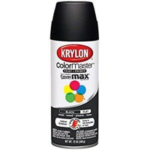 Amazon.com: Krylon K05160207 Colormaster Paint & Primer, Black, Flat, 12 oz: Arts, Crafts & Sewing