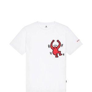 Conversex Keith Haring 联名白色T恤