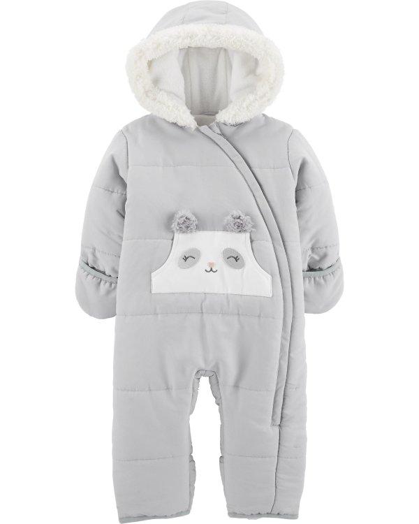 婴儿连体保暖外套