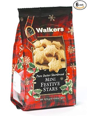 $16.14Walkers Shortbread Mini Festive Stars 4.4-Ounce (Pack of 6) @ Amazon.com