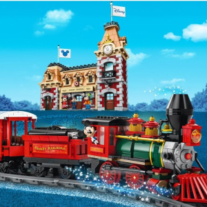 $379.99 +双重赠品LEGO官网 迪士尼火车及车站 71044,手机可操控