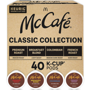 $16.57Keurig McCafé Classic Collection K-Cup Pods Variety Pack, 40 Count