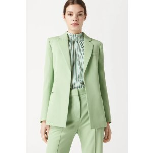 Victoria BeckhamFitted Tailored Jacket in Pistachio