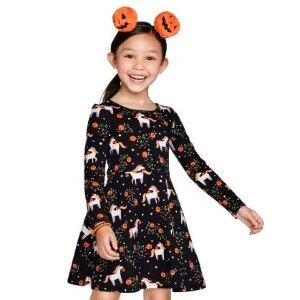 低至5折 $4.98起包邮Children's Place童装官网 万圣节服饰热卖,手链 项链能亮灯
