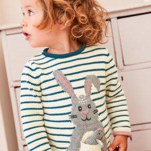 再降 低至4折+额外8折 T恤$9.6起折扣升级:Mini Boden官网 童装大促,好看又有童趣