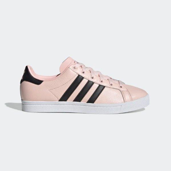 黑尾粉色平底鞋