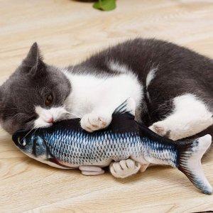 售价€13.99AnCoSoo 电动仿真鱼 超逼真猫咪玩具 能充电能水洗