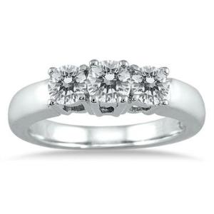 $488独家:Szul 精选1克拉 10K白金钻石戒指特卖